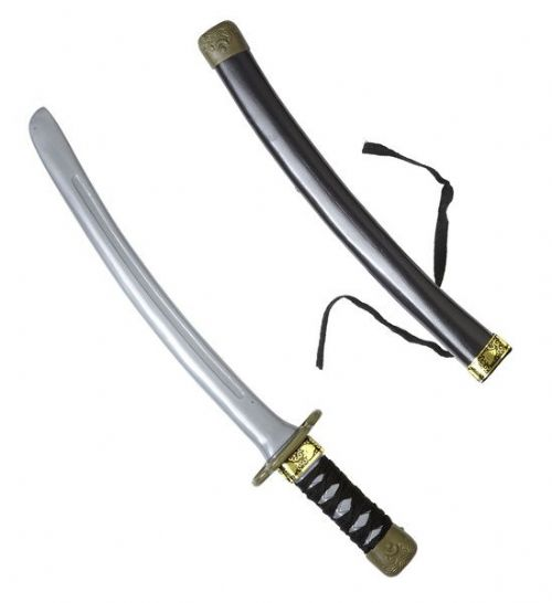 Ninja Dagger W/Scabbard Chinese Martial Arts Fighter Plastic Novelty Toy